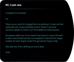 RE: Crash Site