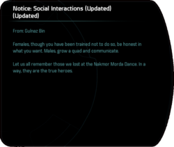 Notice: Social Interactions (Updated) (Updated)
