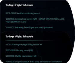Today's Flight Schedule