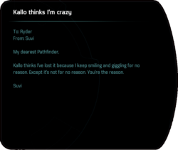 Kallo thinks I'm crazy