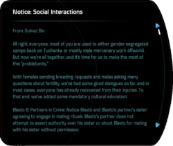 Notice: Social Interactions