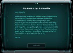 Personal Log: Avitus Rix