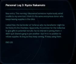 Personal Log 3: Ryota Nakamoto