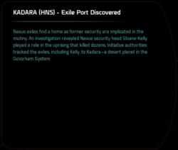 KADARA (HNS) - Exile Port Discovered