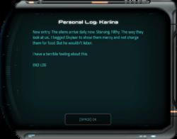 Personal Log: Kariina