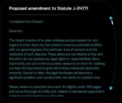 Proposed amendment to Statute J-34771
