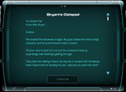 Bryant's Datapad