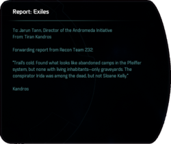 Report: Exiles