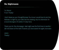 Re: Nightmares