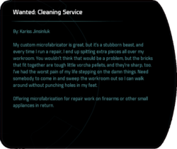 Wanted: Cleaning Service