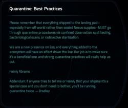 Quarantine: Best Practices