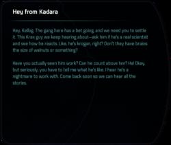 Hey from Kadara