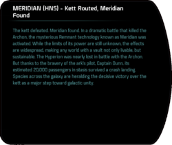MERIDIAN (HNS) - Kett Routed, Meridian Found