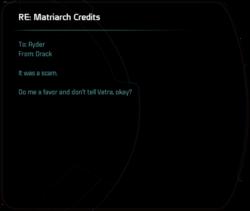 RE: Matriarch credits
