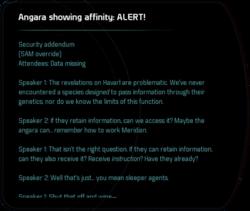 Angara showing affinity: ALERT!