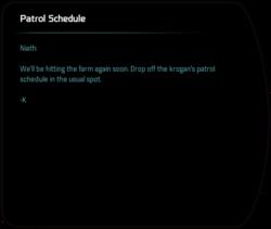 Patrol Schedule