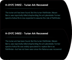 H-047C (HNS) - Turian Ark Recovered