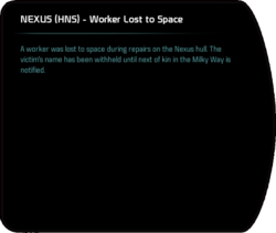 NEXUS (HNS) - Worker Lost to Space