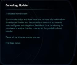 Genealogy Update