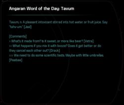 Angaran Word of the Day: Tavum