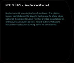 NEXUS (HNS) - Jien Garson Mourned