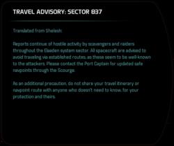 TRAVEL ADVISORY: SECTOR 837