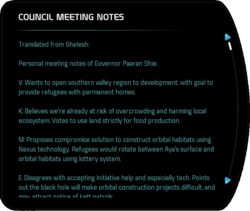 COUNCIL MEETING NOTES