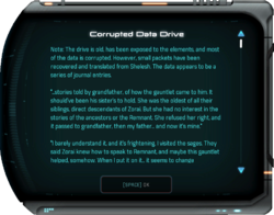 Corrupted Data Drive