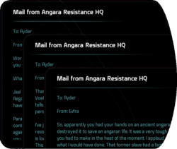 Mail from Angara Resistance HQ
