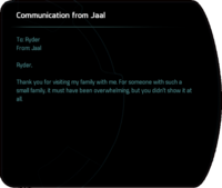 Communication from Jaal - after Runs in the Family.png