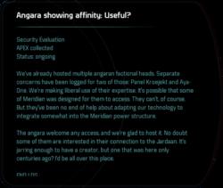 Angara showing affinity: Useful?