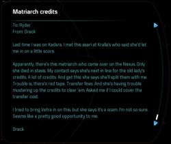 Matriarch credits