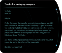 Thanks for saving my carapace