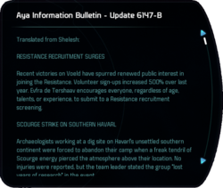 Aya Information Bulletin - Update 6147-B