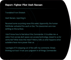 Report: Fighter Pilot Vesh Naraan