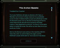 The Archon Speaks
