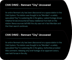 "CIVKI (HNS) - Remnant ""City"" Uncovered"