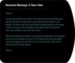 Received Message: A New Alien