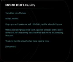 UNSENT DRAFT: I'm sorry