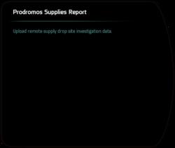 Prodromos Supplies Report