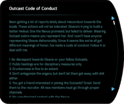 Outcast Code of Conduct
