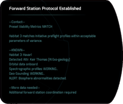 Forward Station Protocol Established
