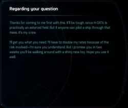 Regarding your question
