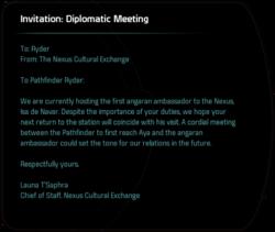 Invitation: Diplomatic Meeting