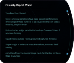 Casualty Report: Voeld