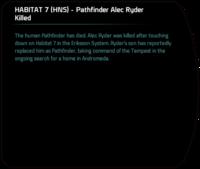 HABITAT 7 (HNS) - Pathfinder Alec Ryder Killed (son succeeds).png