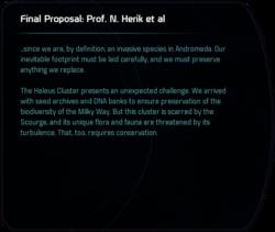 Final Proposal: Prof. N Herik et al