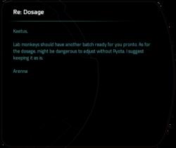 Re: Dosage