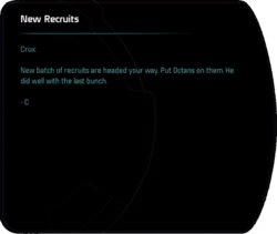New Recruits