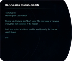 Re: Cryogenic Stability: Update